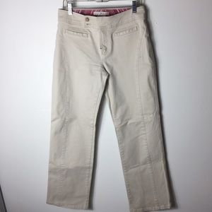 Tommy Hilfiger Tan HighRise 6 Romantic Flare Pants